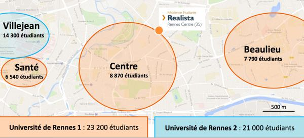 Plan universitaire Rennes