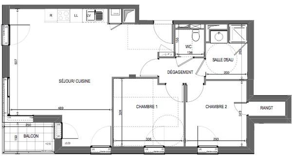 appartement t3 neuf nantes quartier viarme talensac. Black Bedroom Furniture Sets. Home Design Ideas