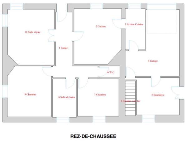 Plan RDC Saint Sébastien sur Loire