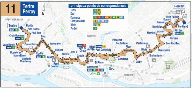 Plan Bus ligne 11