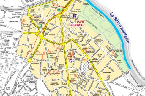 Plan quartier Pont-Rousseau