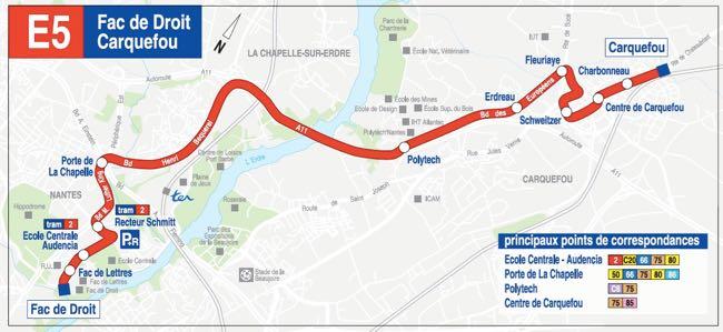 Plan TAN Ligne E5