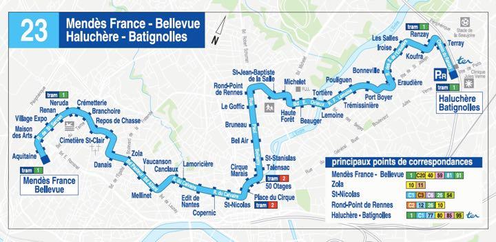 Ligne TAN n°23 - Guerlais Immobilier