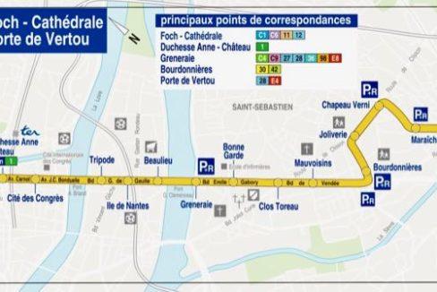 Plan ligne 4 (Copyright TAN) - Guerlais Immobilier agent immobilier à Saint Sébastien sur Loire