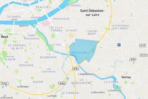 Plan quartier Beautour Vertou - Guerlais Immobilier, agent immobilier à Saint Sébastien sur Loire