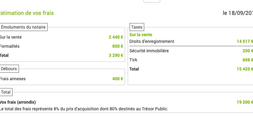 frais de notaire par Guerlais Immobilier