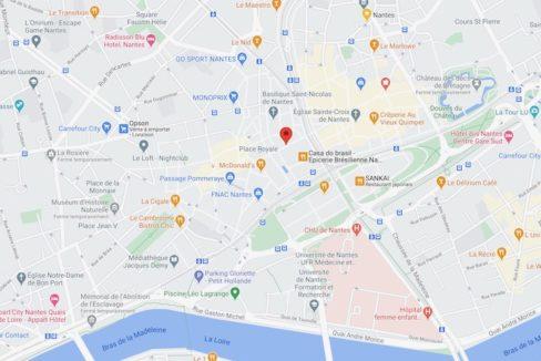 Nantes Plan centre-ville