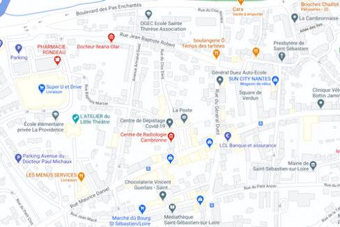 Plan centre Saint Sébastien sur Loire