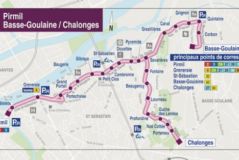 Plan transport ligne C9 Nantes St Sébastien sur Loire