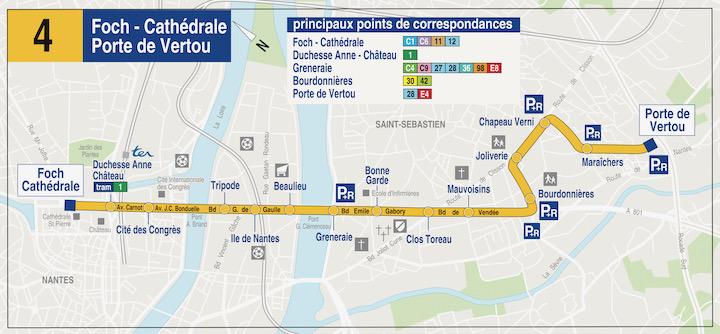 V122-Plan Busway ligne 4 Nantes Vertou
