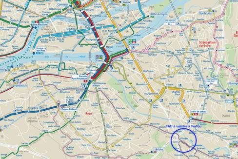 Plan général Sud du réseau TAN